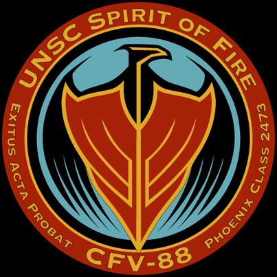 L'emblème du Spirit of Fire