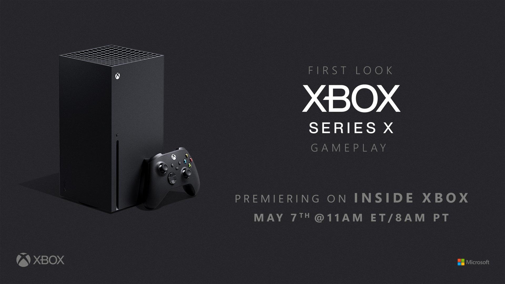 Xbox Series X - Du gameplay des jeux nextgen le 7 mai 2020